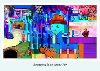 Economy is an Artsy Tor by Isabella Wesoly,  illustrating her blog on the economy December 2012
